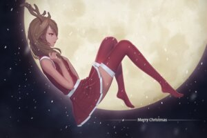 Rating: Safe Score: 49 Tags: christmas dress horns maredoro thighhighs User: Mr_GT
