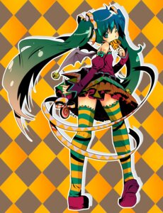 Rating: Safe Score: 15 Tags: dress hatsune_miku thighhighs vocaloid watery.s User: charunetra