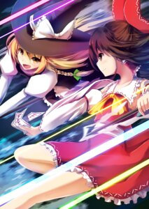 Rating: Safe Score: 22 Tags: apple228 hakurei_reimu kirisame_marisa sarashi touhou witch User: Mr_GT