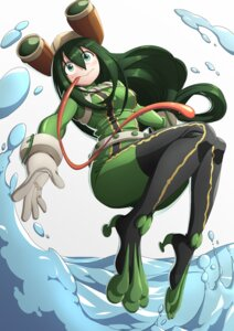Rating: Safe Score: 20 Tags: asui_tsuyu bodysuit boku_no_hero_academia monster_girl unknown_(dgraymem) User: charunetra