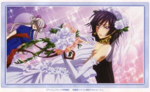Rating: Safe Score: 12 Tags: code_geass crossdress dress lelouch_lamperouge male rai_(code_geass) wedding_dress User: Radioactive