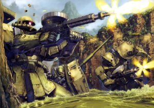 Rating: Safe Score: 15 Tags: gundam mecha ms-06_zaku_ii the_08th_ms_team User: Radioactive