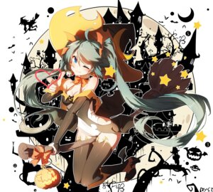 Rating: Safe Score: 6 Tags: cameltoe cleavage halloween hatsune_miku heels leotard sen_ya signed thighhighs vocaloid witch User: RyuZU