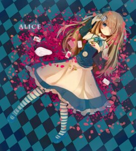 Rating: Safe Score: 32 Tags: alice alice_in_wonderland dress makishimu pantyhose User: Nekotsúh