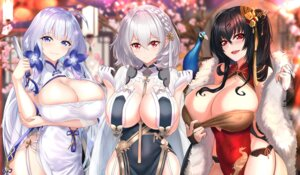 Rating: Questionable Score: 51 Tags: asian_clothes azur_lane breast_hold chinadress cleavage erect_nipples illustrious_(azur_lane) nez-box no_bra sirius_(azur_lane) taihou_(azur_lane) undressing User: mash