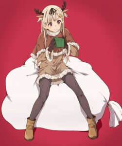 Rating: Safe Score: 53 Tags: animal_ears christmas dress haine horns kantai_collection pantyhose yuudachi_(kancolle) User: nphuongsun93