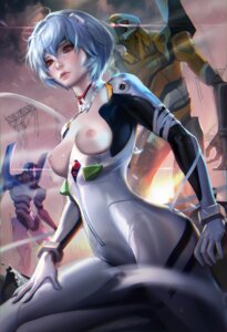 Rating: Questionable Score: 82 Tags: ayanami_rei bodysuit breasts mecha neon_genesis_evangelion nipples no_bra sakimichan User: Fanla