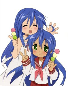 Rating: Safe Score: 10 Tags: dress izumi_kanata izumi_konata lucky_star seifuku User: Elow69