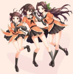 Rating: Safe Score: 19 Tags: jintsuu_(kancolle) kantai_collection naka_(kancolle) pantsu seifuku sendai_(kancolle) shiosoda skirt_lift User: fairyren