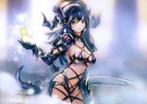 Rating: Safe Score: 32 Tags: armor bikini_armor cleavage horns okuto weapon User: Mr_GT