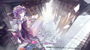Rating: Safe Score: 33 Tags: kiwamu patchouli_knowledge thighhighs touhou User: dyj