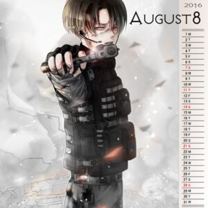 Rating: Safe Score: 4 Tags: calendar gun levi male shingeki_no_kyojin tagme uniform User: charunetra