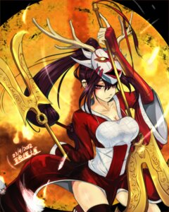 Rating: Safe Score: 51 Tags: akali beancurd cleavage league_of_legends thighhighs User: fairyren