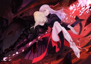 Rating: Safe Score: 71 Tags: armor dress fate/stay_night feet joseph_lee matou_sakura saber saber_alter sword User: Mr_GT