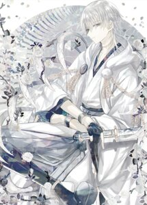Rating: Safe Score: 9 Tags: abandon_ranka armor japanese_clothes male sword touken_ranbu tsurumaru_kuninaga User: charunetra