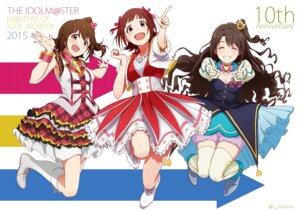 Rating: Safe Score: 23 Tags: amami_haruka cleavage dress kasuga_mirai shimamura_uzuki tagme the_idolm@ster thighhighs User: saemonnokami