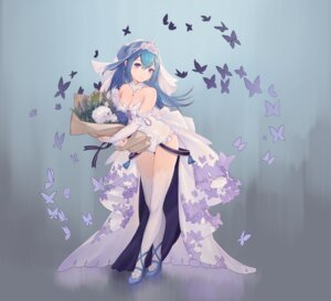 Rating: Questionable Score: 38 Tags: 390378812 cleavage dress heels leotard thighhighs wedding_dress User: Dreista