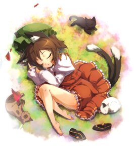 Rating: Safe Score: 25 Tags: animal_ears chen ikeda_p-rou neko nekomimi tail touhou User: Mr_GT