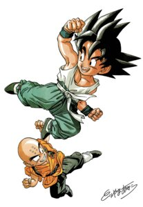 Rating: Safe Score: 3 Tags: dragon_ball kuririn son_goku toriyama_akira User: OZKai2015