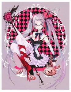 Rating: Safe Score: 15 Tags: bachiko cleavage dress kaku-san-sei_million_arthur megane stockings thighhighs User: Radioactive
