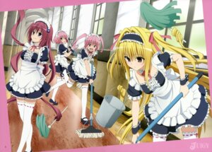 Rating: Safe Score: 87 Tags: garter golden_darkness kurosaki_mea maid momo_velia_deviluke nana_asta_deviluke tail thighhighs to_love_ru to_love_ru_darkness User: drop