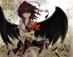 Rating: Safe Score: 17 Tags: ikeda_hazuki shameimaru_aya touhou wings User: GeniusMerielle