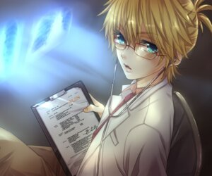 Rating: Safe Score: 10 Tags: hakuseki kagamine_len male megane vocaloid User: charunetra