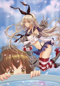 Rating: Questionable Score: 15 Tags: kantai_collection rensouhou-chan shimakaze_(kancolle) teddy_yang thighhighs yukikaze_(kancolle) User: blooregardo