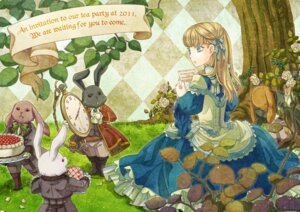 Rating: Safe Score: 9 Tags: alice alice_in_wonderland amakasu_yaeko dress User: Radioactive