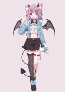 Rating: Safe Score: 12 Tags: animal_ears garter horns sapphire_(sapphire25252) tail thighhighs wings User: Mr_GT