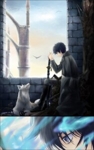 Rating: Safe Score: 10 Tags: ao_no_exorcist ian male okumura_rin sword User: charunetra