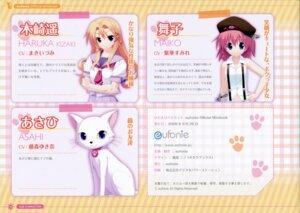 Rating: Safe Score: 8 Tags: asahi_(hidamari_basket) eufonie hidamari_basket kazaki_haruka kiba_satoshi maiko_(hidamari_basket) neko profile_page seifuku User: fireattack