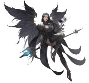Rating: Safe Score: 61 Tags: armor daeho_cha dress heels thighhighs weapon wings User: Radioactive