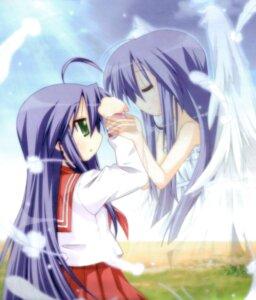Rating: Safe Score: 15 Tags: angel izumi_kanata izumi_konata lucky_star wings yoshimizu_kagami User: dragonshining