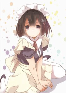 Rating: Safe Score: 51 Tags: haguro_(kancolle) kantai_collection maid pantyhose suzmeco User: oooRham