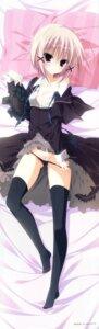Rating: Questionable Score: 109 Tags: dakimakura inugami_kira makura natsume_shizuku nipples pantsu panty_pull sakura_no_uta thighhighs User: 雪車町