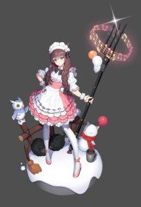 Rating: Safe Score: 23 Tags: animal_ears final_fantasy final_fantasy_xiv heels lemonpear maid weapon User: Dreista