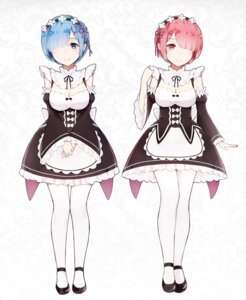 Rating: Safe Score: 55 Tags: cleavage gkn maid pantyhose ram_(re_zero) re_zero_kara_hajimeru_isekai_seikatsu rem_(re_zero) User: Brufh