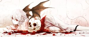 Rating: Questionable Score: 55 Tags: blood cloudy.r dress pointy_ears remilia_scarlet touhou wings User: Mr_GT
