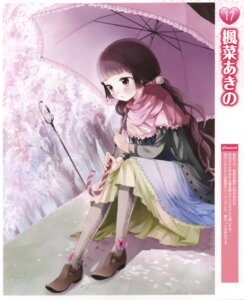 Rating: Safe Score: 10 Tags: dress kaedena_akino thighhighs umbrella User: androgyne