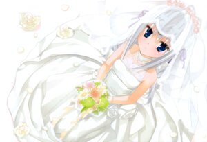 Rating: Safe Score: 72 Tags: dress eucliwood_hellscythe kobuichi kore_wa_zombie_desu_ka wedding_dress User: milumon