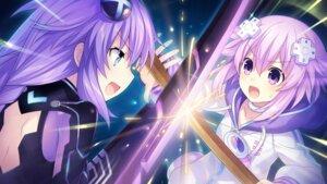 Rating: Safe Score: 12 Tags: choujigen_game_neptune game_cg neptune purple_heart sword tsunako yuusha_neptune_sekai_yo_uchuu_yo_katsumoku_seyo!!_ultimate_rpg_sengen!! User: Nepcoheart