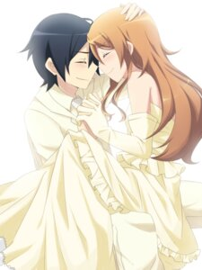 Rating: Safe Score: 28 Tags: dress kousaka_kirino kousaka_kyousuke ore_no_imouto_ga_konnani_kawaii_wake_ga_nai sudachi wedding_dress User: charunetra
