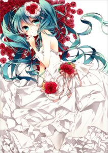 Rating: Safe Score: 33 Tags: dress hatsune_miku naoto vocaloid wedding_dress User: Radioactive