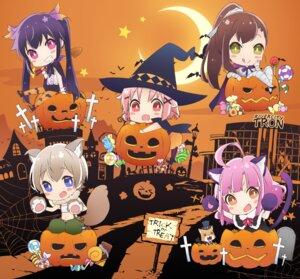 Rating: Safe Score: 20 Tags: animal_ears bandages chibi ebisuzawa_kurumi gakkou_gurashi! halloween naoki_miki nekomimi pantyhose sakura_megumi tail takeya_yuki wakasa_yuuri witch User: saemonnokami