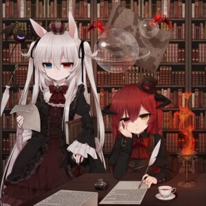 Rating: Questionable Score: 48 Tags: alice_claudia animal_ears gothic_lolita heterochromia lolita_fashion tsukikage_nemu User: KazukiNanako