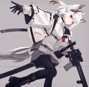 Rating: Safe Score: 33 Tags: animal_ears gun nagishiro_mito pantyhose User: Dreista