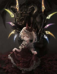Rating: Safe Score: 22 Tags: flandre_scarlet mephist-pheles skirt_lift touhou wings User: charunetra
