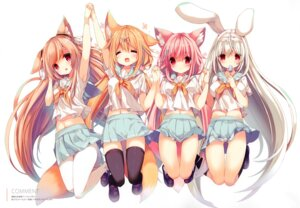 Rating: Safe Score: 47 Tags: animal_ears bunny_ears cynthia_riddle p19 pantyhose practice seifuku skirt_lift tail thighhighs User: kiyoe