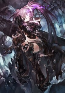 Rating: Safe Score: 38 Tags: armor avamone black_rock_shooter black_rock_shooter_(character) insane_black_rock_shooter thighhighs weapon User: Mr_GT